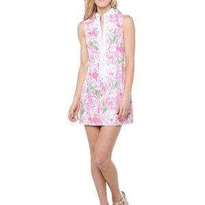 Lilly Pulitzer Alexa high collar shift dress pink